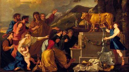 «Adoración del becerro de oro» (1626-1629). Andrea di Lione. Museo de Bellas Artes de San Francisco (EE.UU.)