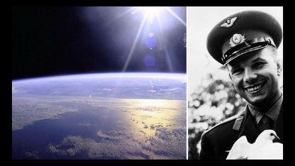 O que viu o cosmonauta Yuri Gagarin (á dereita) dende o espazo fíxolle exclamar: «Preservemos e aumentemos esta beleza»