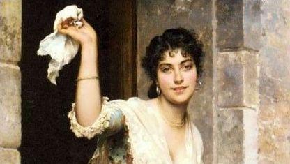 «La despedida». Eugene de Blaas (1843-1932). Colección particular