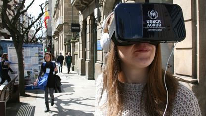 Campaña de Acnur en Ourense para a captación de socios