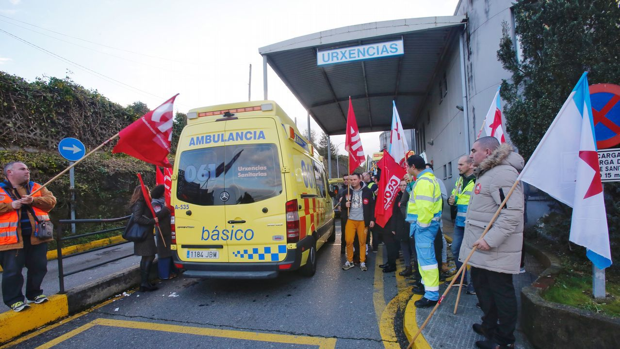 Protestas en el hospital y los centros de salud de Monforte y Chantada.Una mediana recientemente instalada complica la vida de los vecinos de Santa Ana