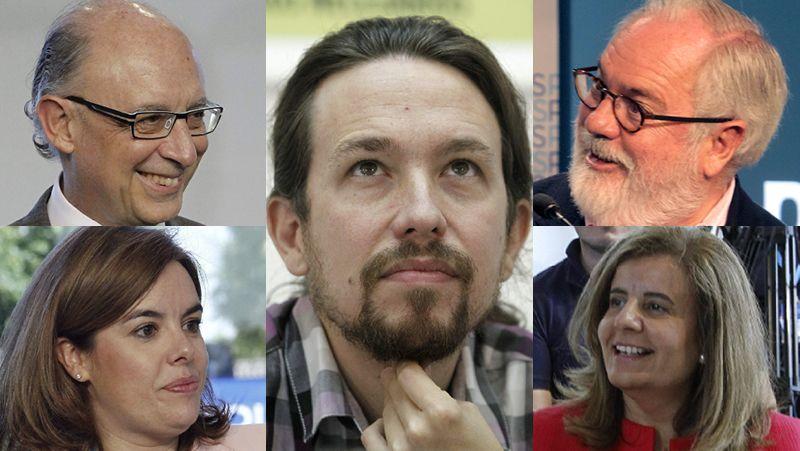 El PP contra Podemos.Renzi y Hollande intentan inclinar la balanza europea del lado del crecimiento.