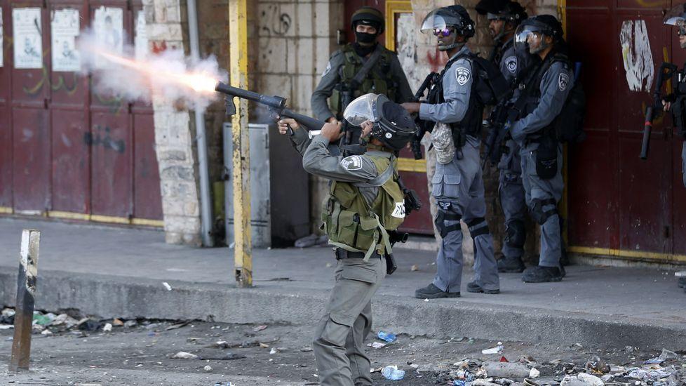 Última ola de violencia en Palestina.Un supuesto agresor palestino abatido en Israel