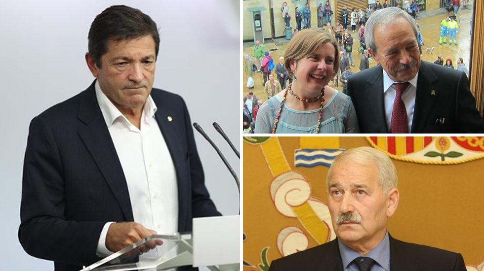 El alcalde, Wenceslao López, inaugura junto con Ana Taboada y Cristina Pontón la placa del bulevar de Oviedo.El alcalde de Oviedo Wenceslao López