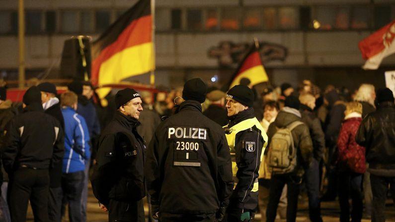 Manifestación de Baergida, la sección de Berlín del movimiento islamófobo