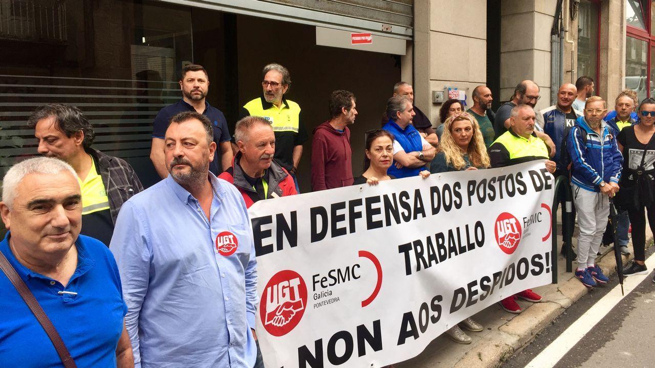 Huelguistas de la zona azul de Vigo se encierran en Dornier