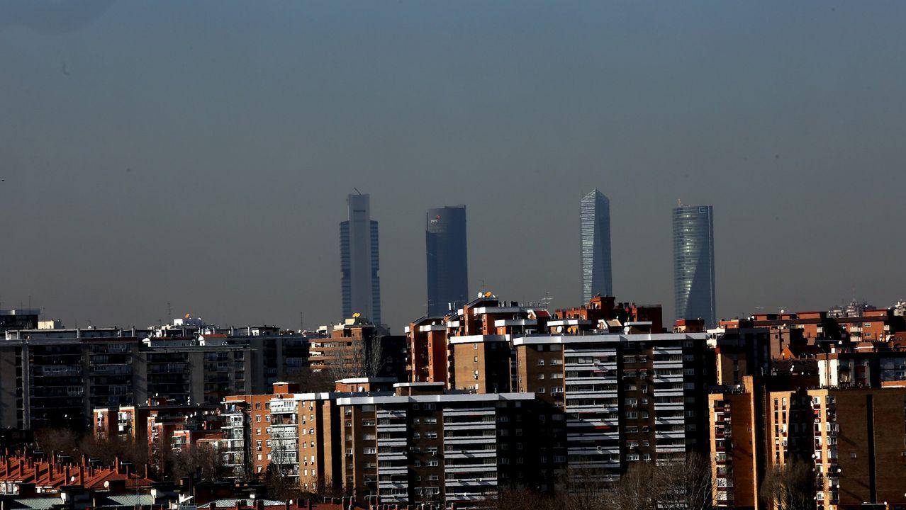 .Panorámica de Madrid con altos niveles de polución