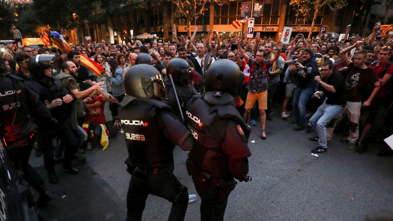 Protestas en las calles de Barcelona