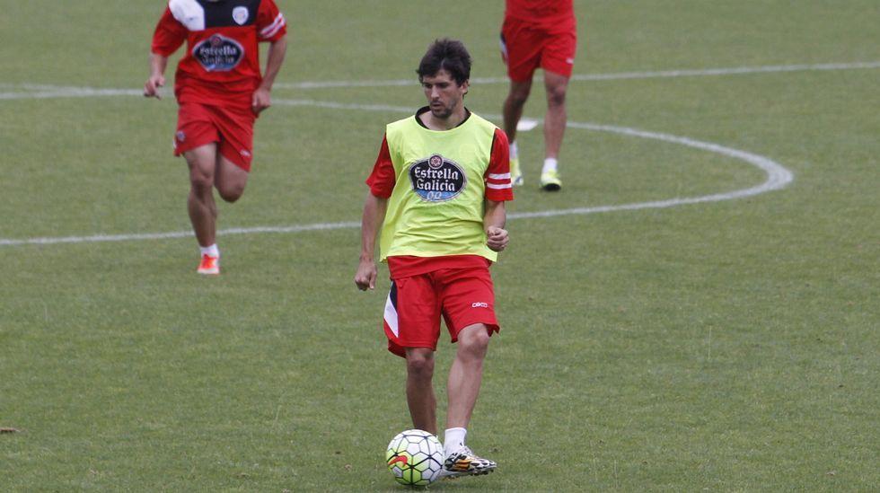 Vázquez, celebrando la permanencia en Valladolid el pasado sábado