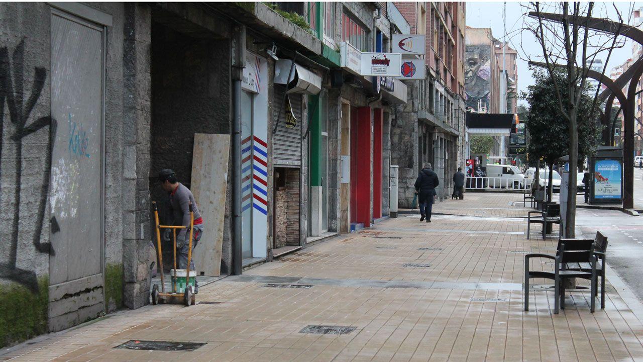 .Lugar donde se produjo la agresión en la avenida de la Constitución
