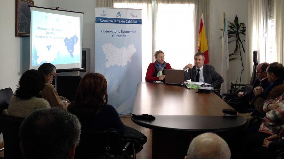 .La presentación de los datos del Observatorio Económico de la Diputación tuvo lugar en Castro Caldelas