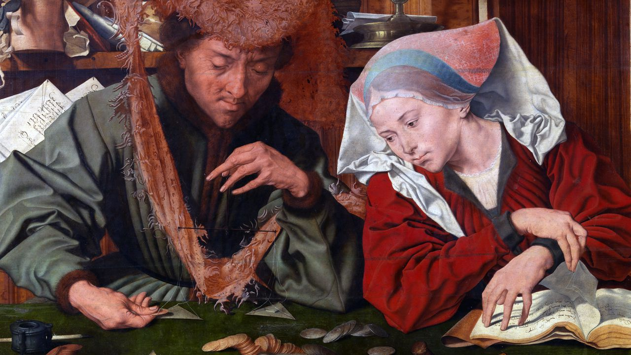 El cambista y su mujer (1539) de Marinus Claeszoon van Reymerswaele
