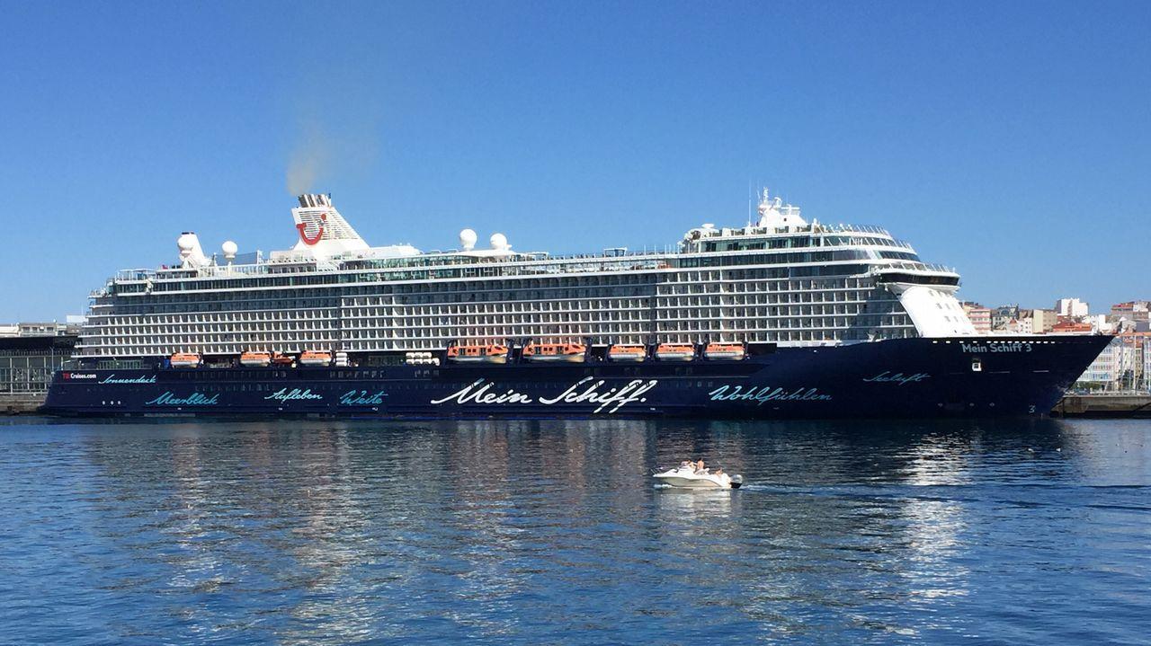 El MSC Magnifica, en A Coruña