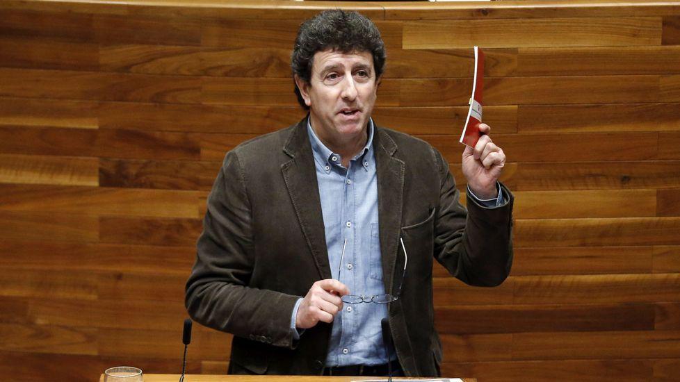 El secretario de Organización de la Federación Socialista Asturiana, Jesús Gutiérrez
