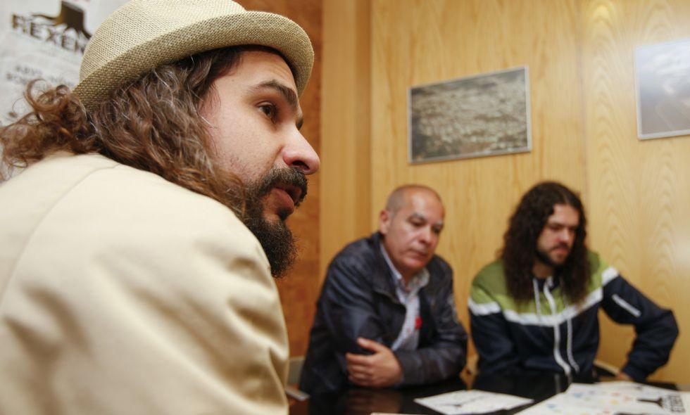 Sokram, Regueira y Mou, ayer, en la presentación del Rexenera Fest.