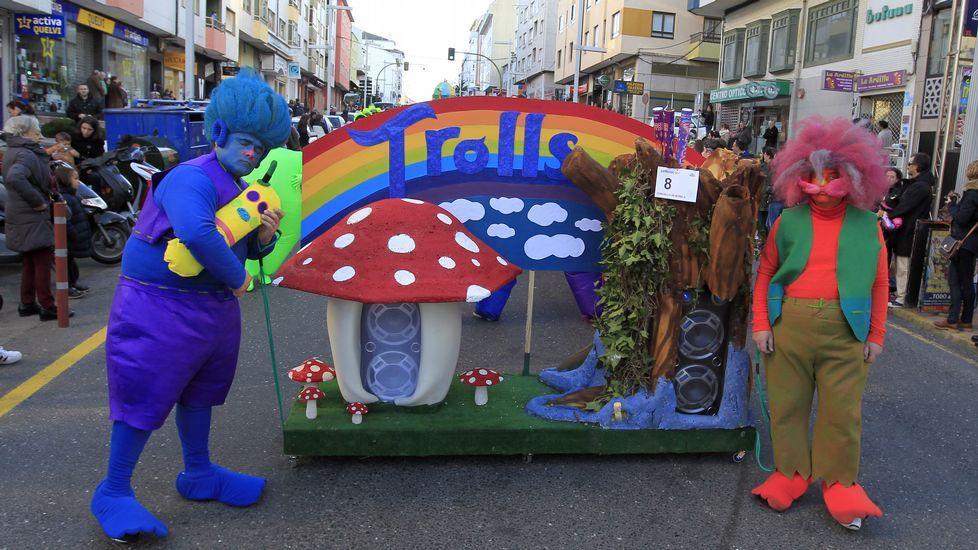 Desfile de Carnaval en Burela.