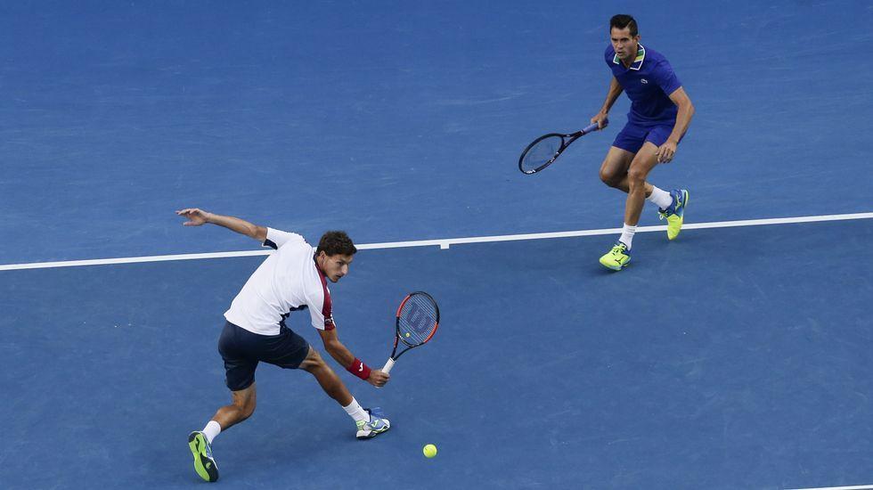 El mayor túnel de viento de España.Carreño y García-López, en su partido de dobles en Melbourne