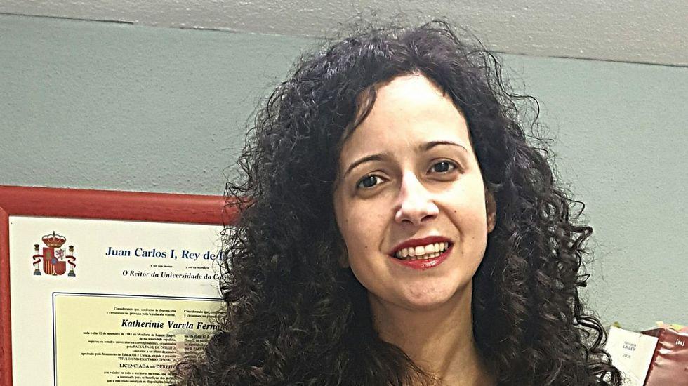 Katherinie Varela, candidata del PP a la alcaldía de Monforte