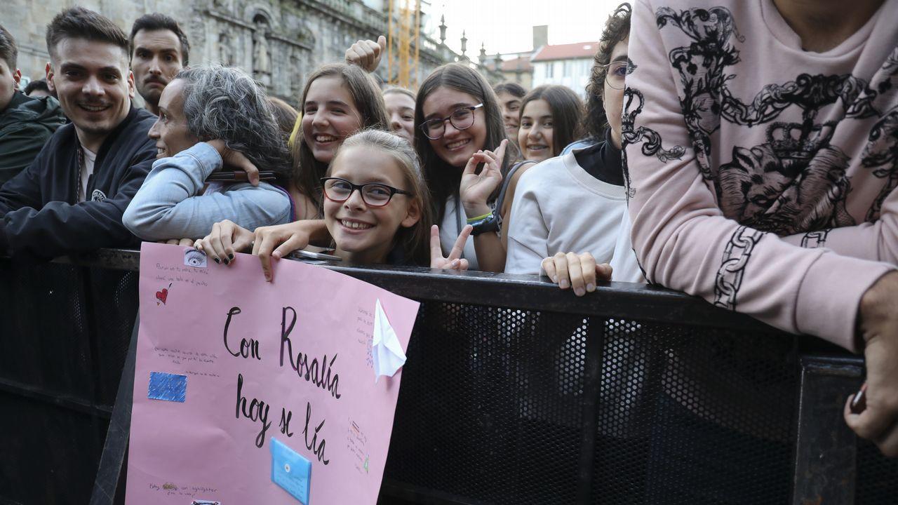 Concierto de Rosalia en Santiago. Fiestas del Apóstol