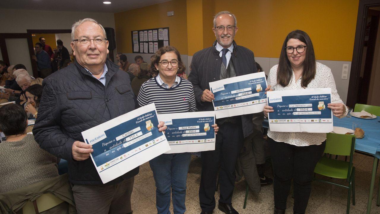 El sexto Xantar Solidario de la EFA Fonteboa, en imágenes
