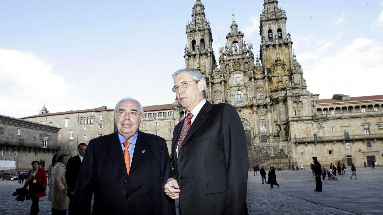 Álvarez Areces y Touriño, en una foto del 2008