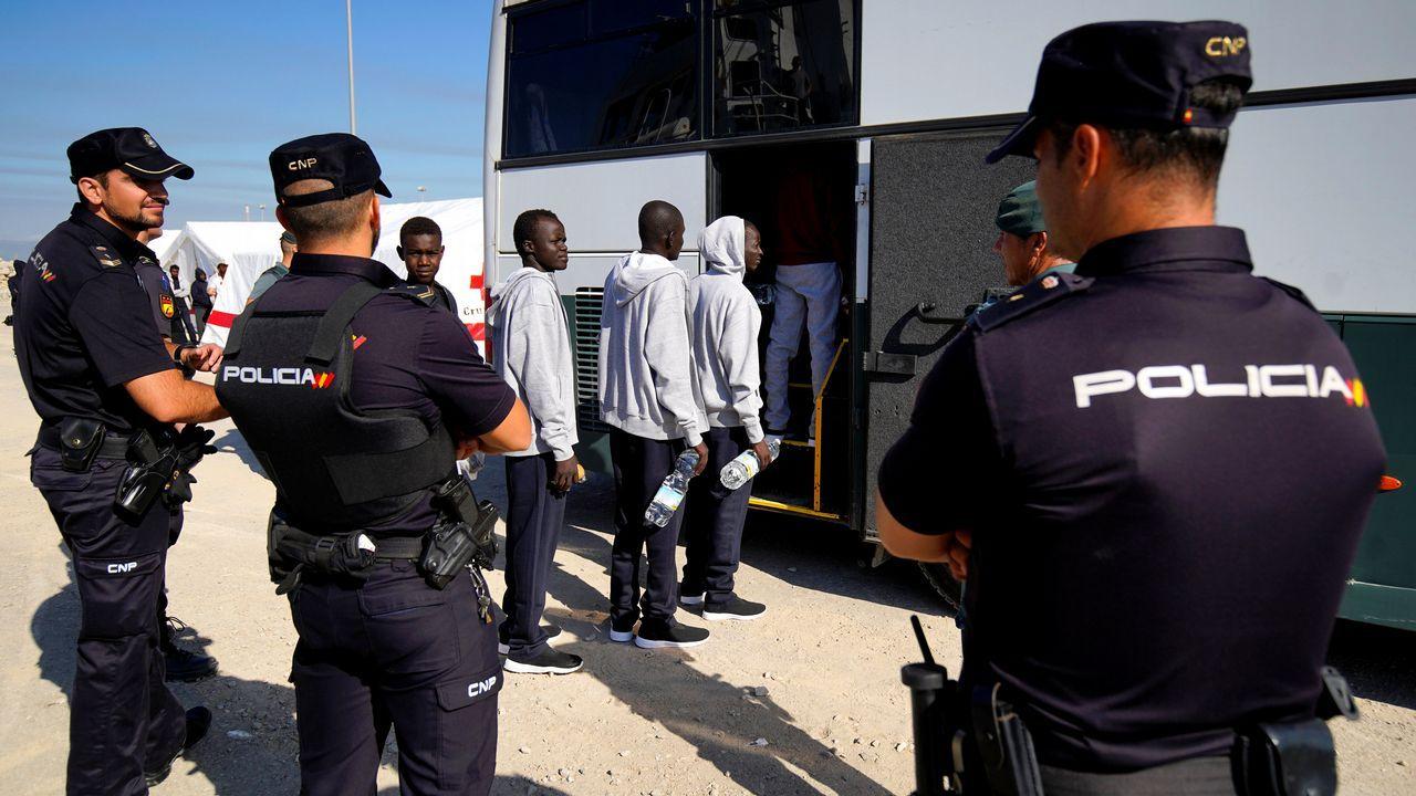 .Algunos de los migrantes rescatados por la ONG Proactiva Open Arms