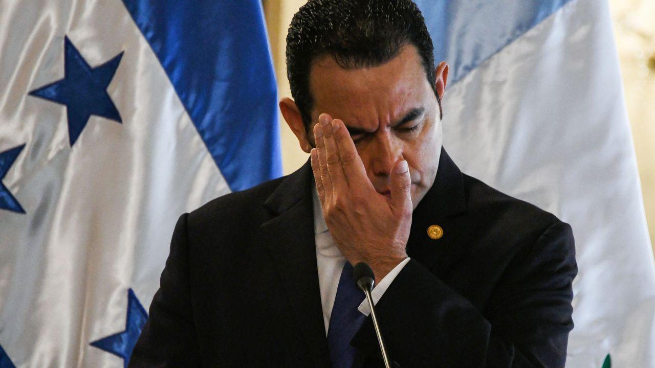 El perfil de Ignacio Cuesta.Imagen de archivo del presidente de Guatemala