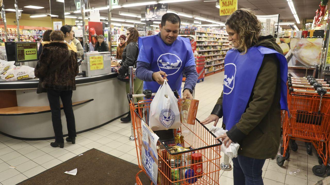 Supermercados Gran  recogida de alimentos para Banco de Alimentos