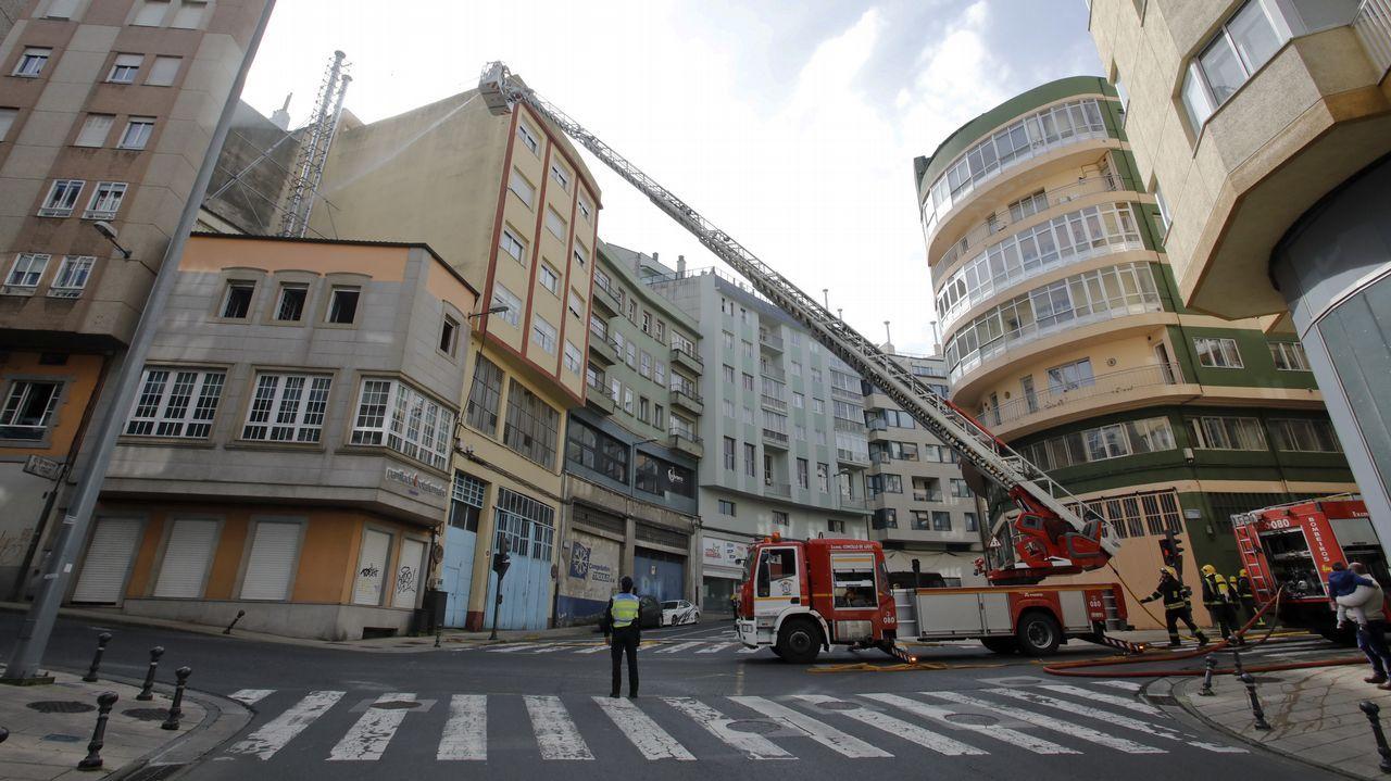 Incendio en una parrillada de Lugo