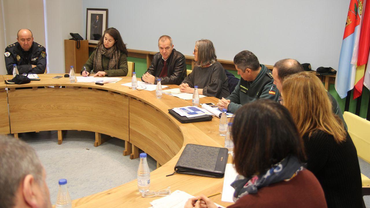 Los jueces ourensanos -en la imagen, en la lectura de un manifiesto a finales del año pasado- tienen una cita con las urnas