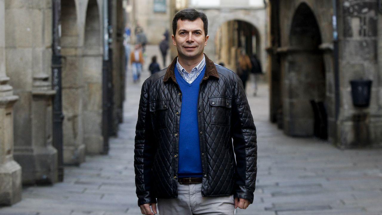 Gonzalo Caballero: «Vexo o PP afundido en España e tocado en Galicia».El portavoz del PSdeG PSOE en el Concello de A Coruña, José Manuel Garcia.