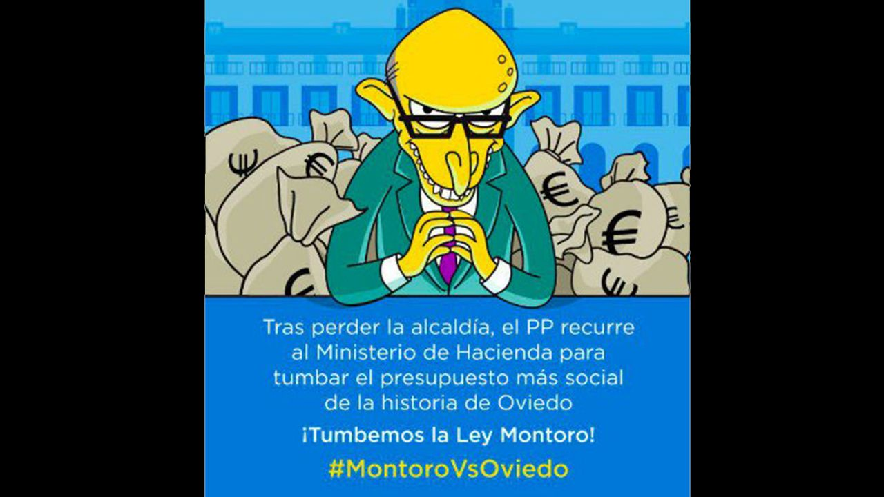 Segundo González (Podemos).Campaña de los ayuntamientos del cambio en defensa de Oviedo y contra Montoro