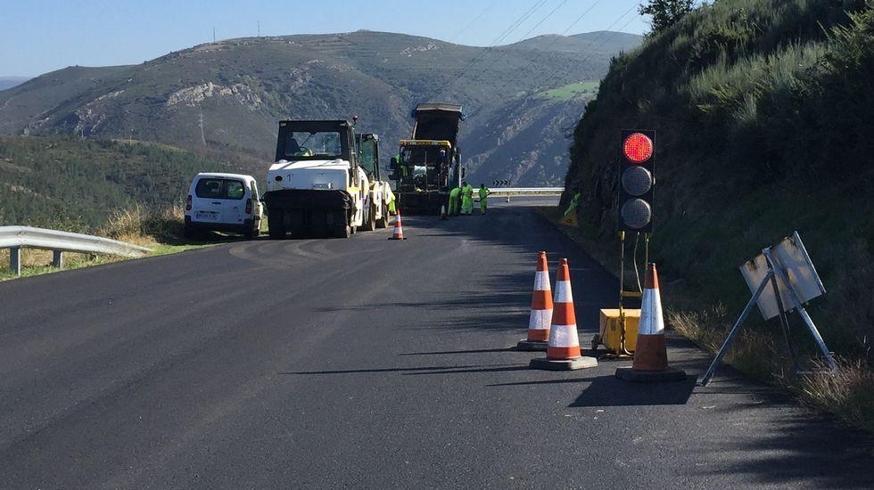 Imagen del accidente, ocurrido en agosto en Larouco