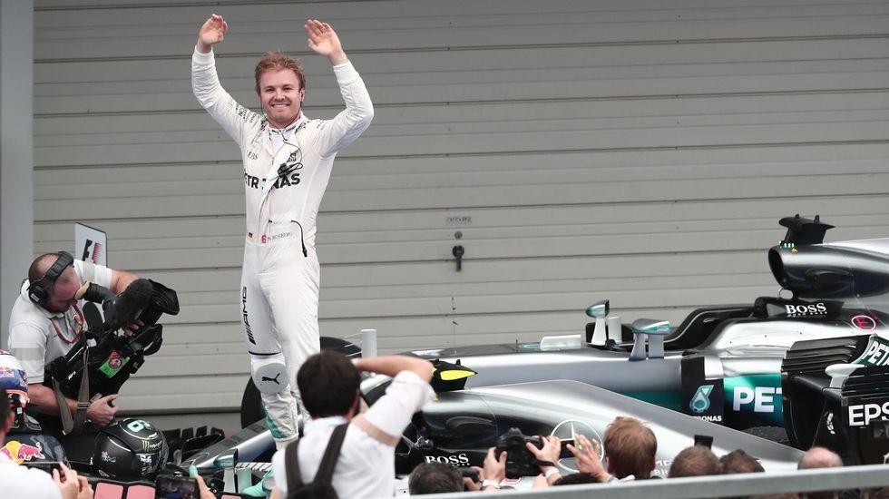 Rosberg campeón del mundo.Fernando Alonso