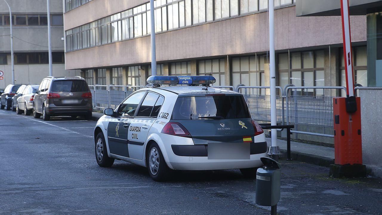 Llegada al cuartel de la Guardia Civil de Lonzas, en A Coruña, del sospechoso de la desaparición de Diana Quer.