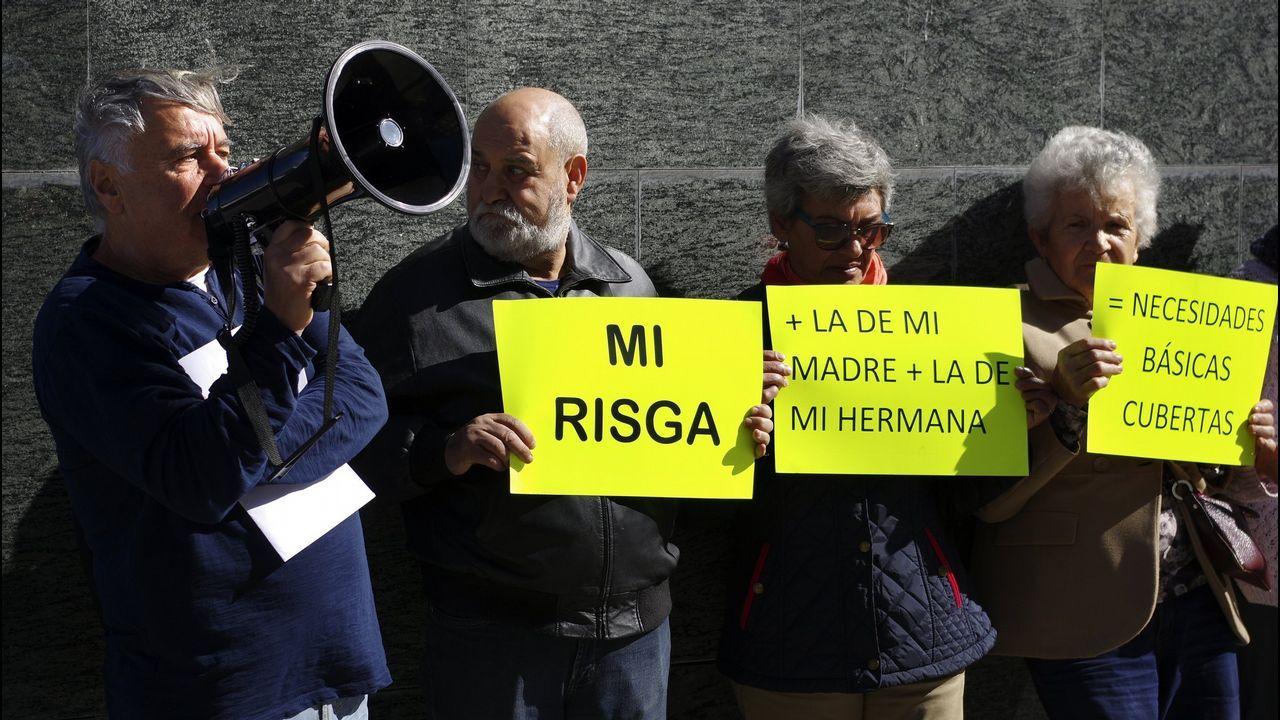 Un preso de confianza despide a Gayoso: «Julio, hasta que volvamos a vernos».Imagen de archivo de una protesta en Vigo