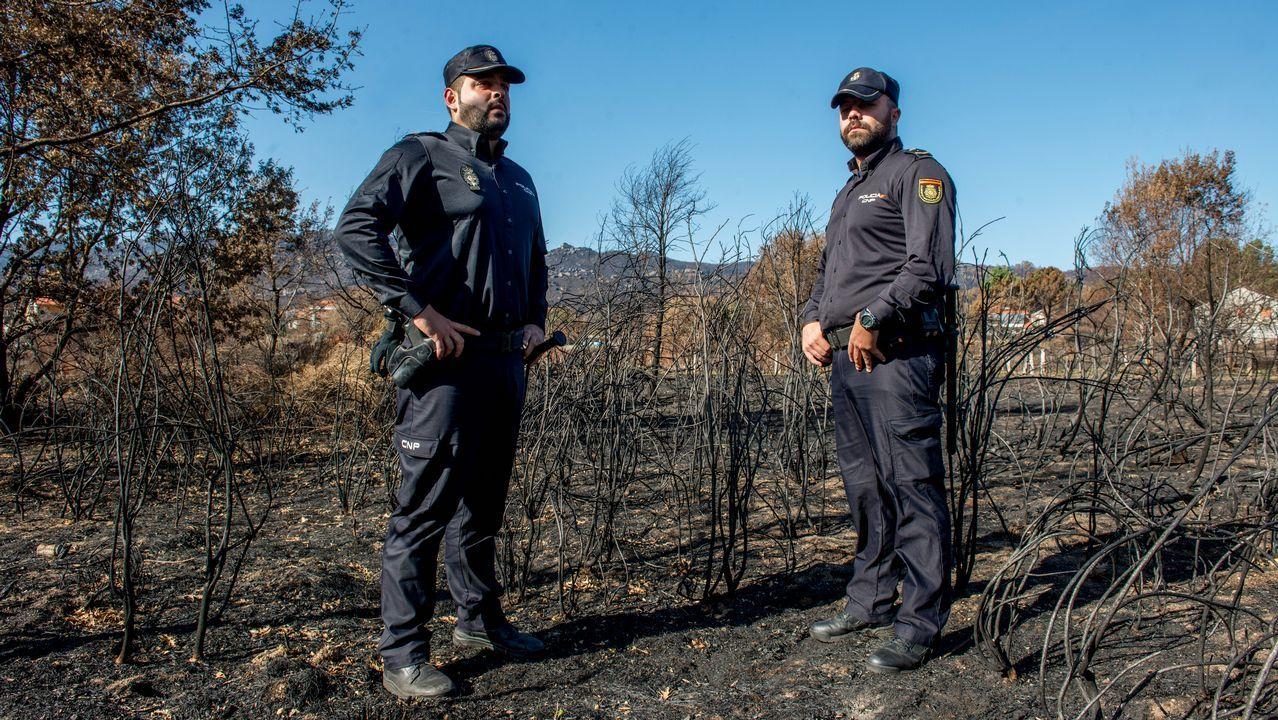 Imágenes de la Galicia abrasada por los incendios. Carballeda de Avia