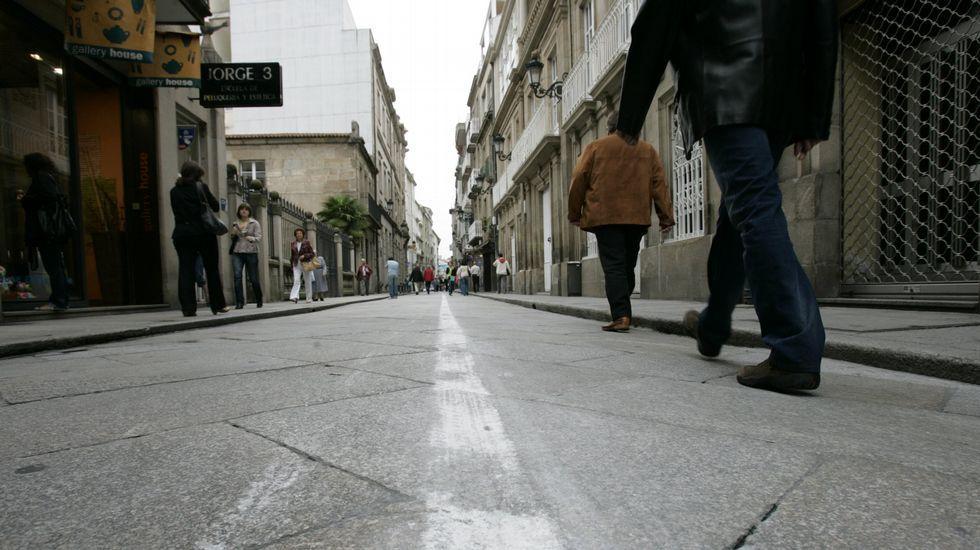 La ourensana calle de Santo Domingo fue escenario de una de las denuncias