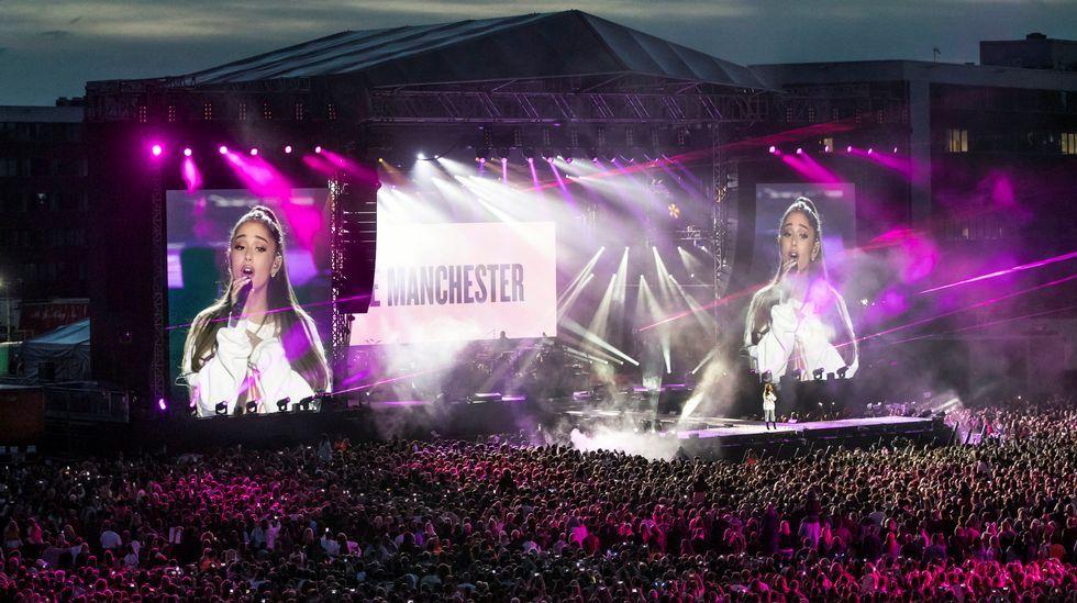 Asistentes al concierto de Manchester