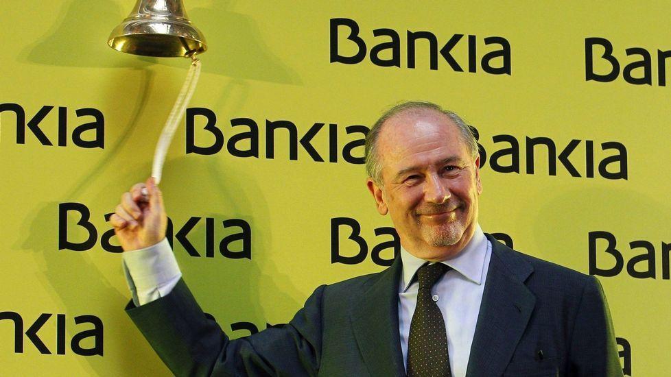 La sede de Duro Felguera.Rodrigo Rato, que en el 2011 era presidente de Bankia, en el momento de salida a bolsa de la entidad financiera.