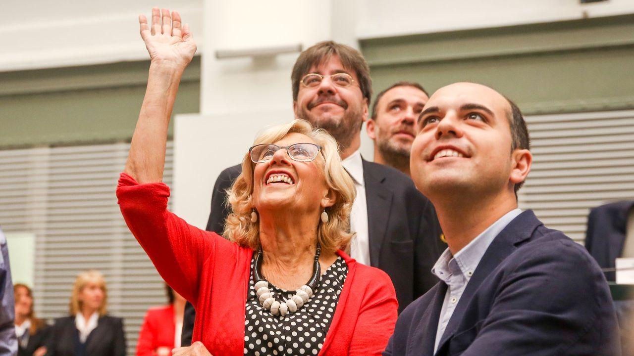 Carmena, el pasado sábado en la sesión de constitución del Ayuntamiento de Madrid