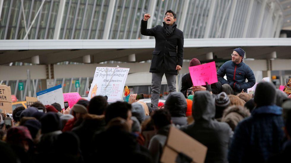 Protestas contra el veto de Trump a refugiados y ciudadanos de países musulmanes en San Francisco