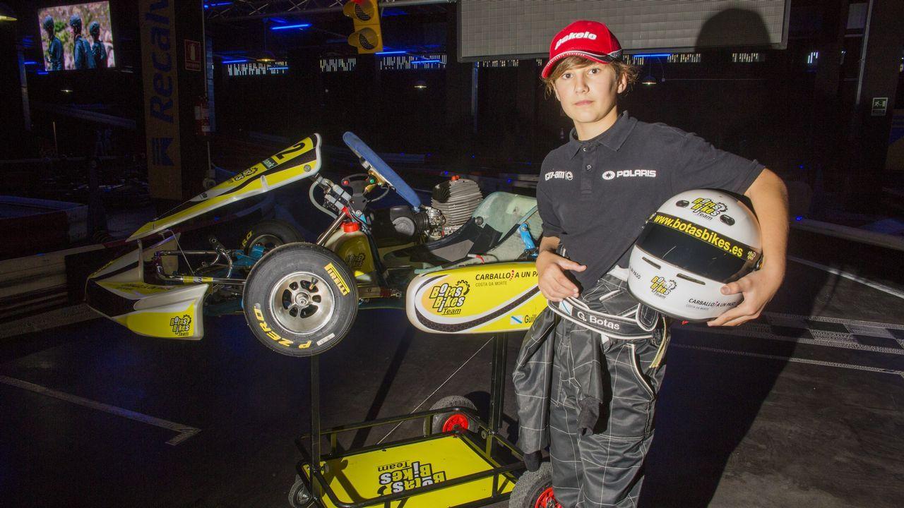 Un fenómeno del kart con solo 13 años.Fernando Alonso en Asturias