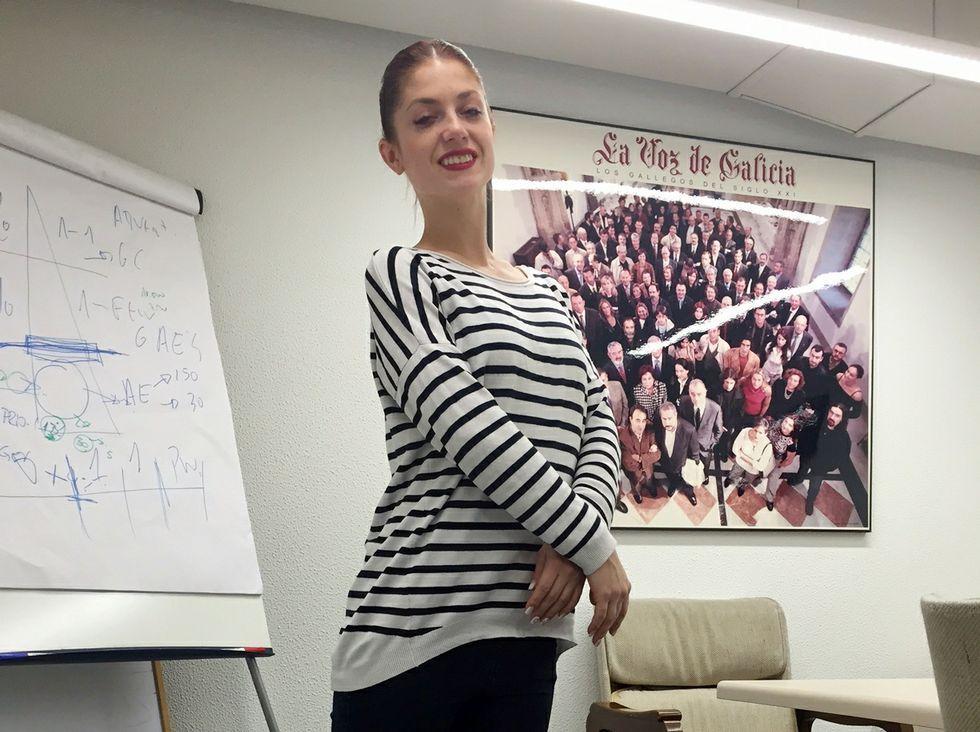 Rusia celebra el Día de la Victoria.Anastasia Natushin, bailarina del Grand Ballet Ruso.