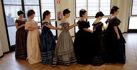 El 13.437, el Gordo más deseado.Ensayo general de un grupo de participantes en «La Traviata» que se representó en el Palacio el pasado mes de septiembre.