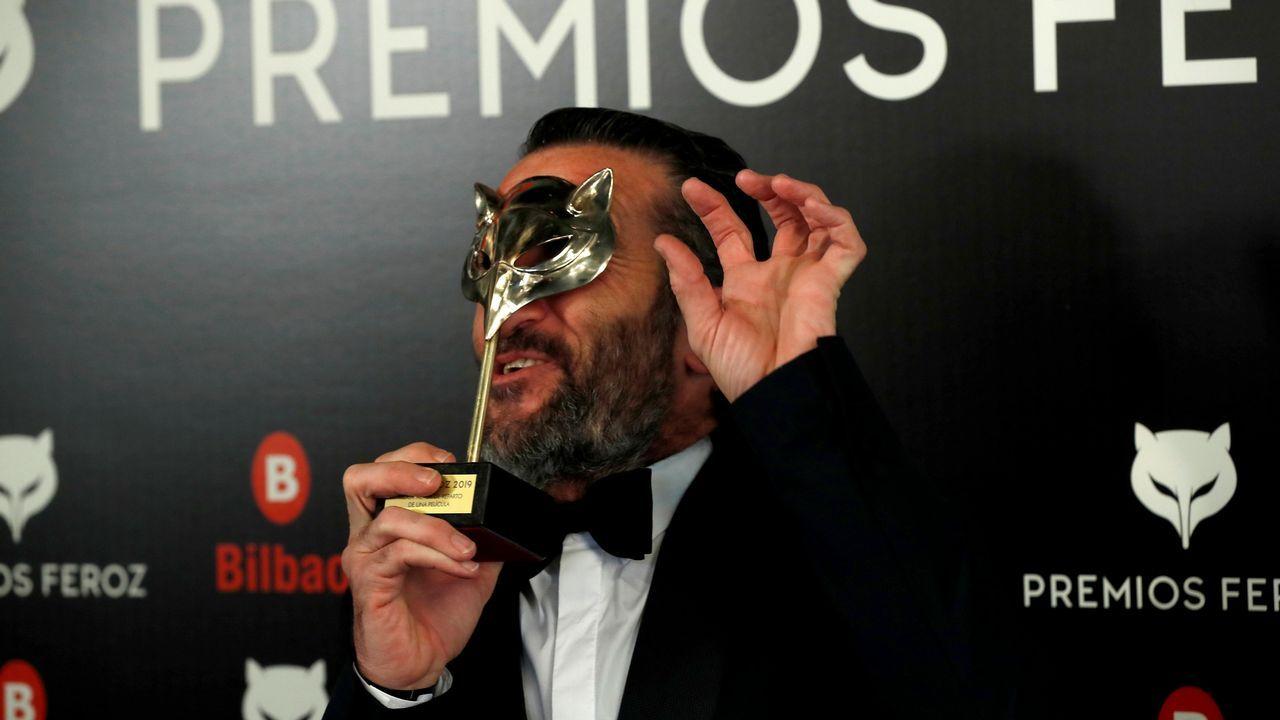 PREMIOS FEROZ. El actor Luis Zahera recibe el premio al mejor actor de reparto por su papel en  El Reino