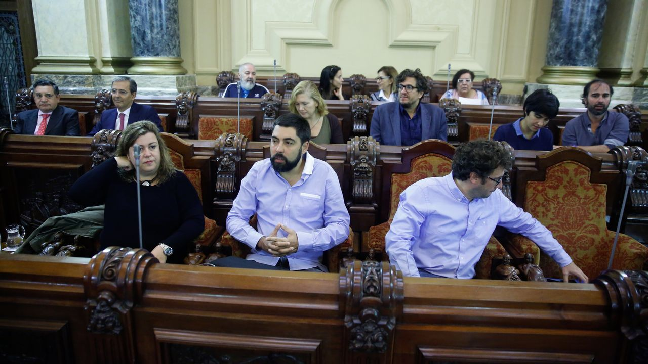 .Pleno municipal en María Pita
