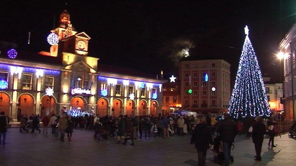.Luces de Navidad en Oviedo