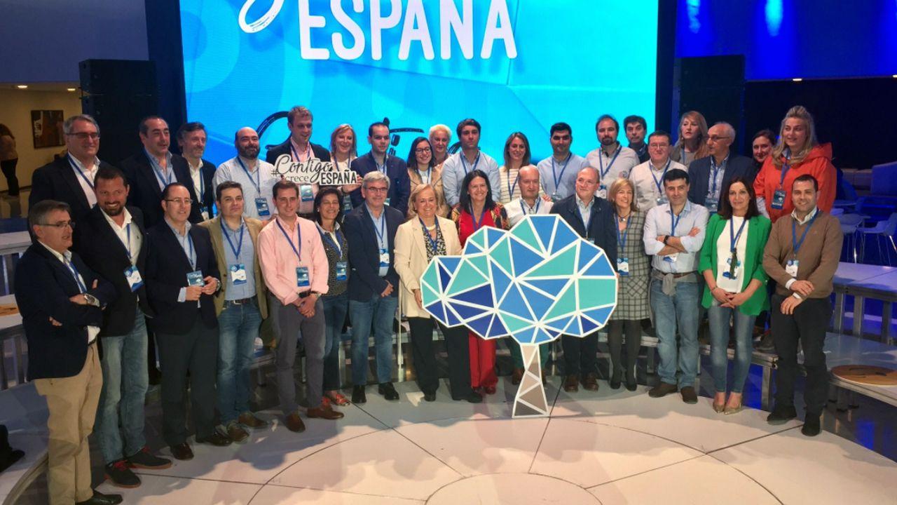 La delegación asturiana en la convención nacional del PP