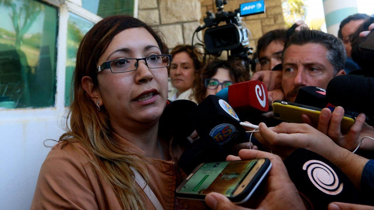 Itati Leguizamón, esposa de uno de los tripulantes de submarino San Juan